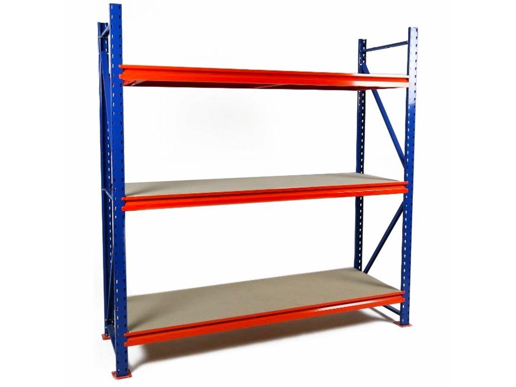 Végtelen ipari Salgó polc 2400x1800x800 4-polc, teherbírás 3600 kg -alap egység