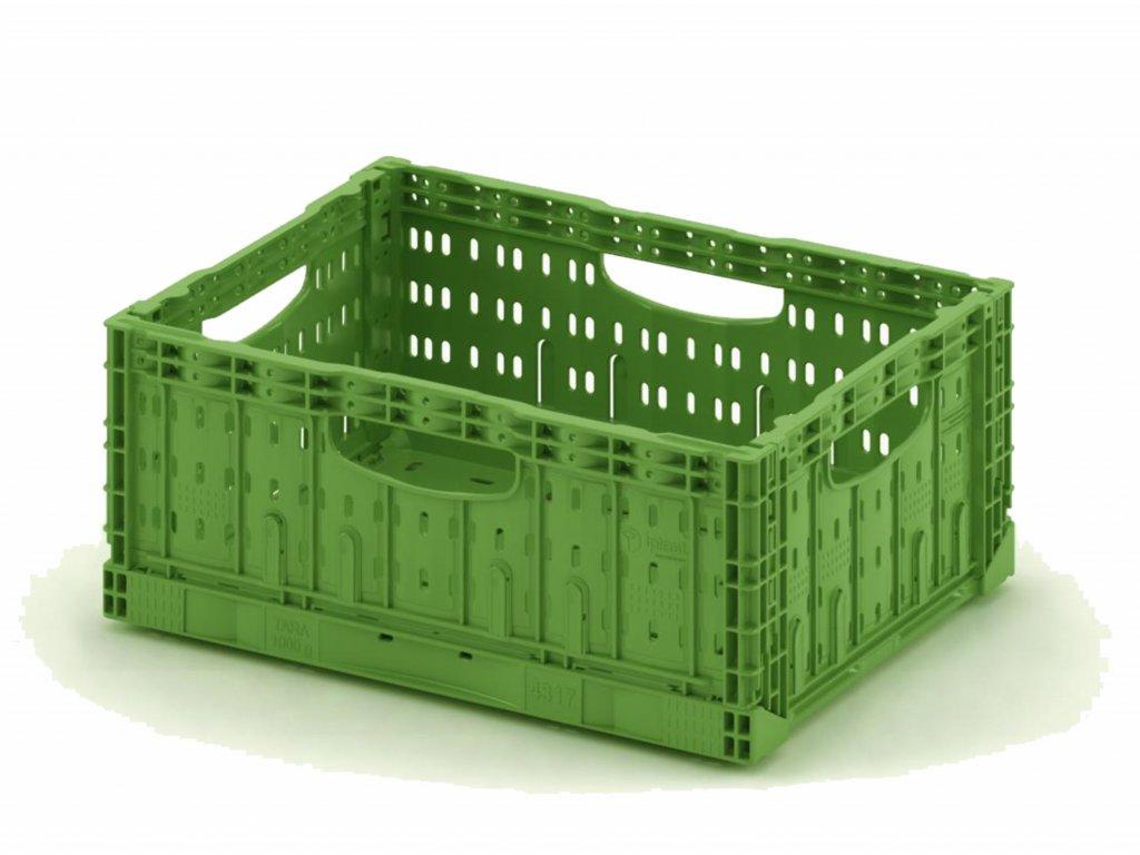 Összecsukható műanyag rekesz 60 x 40 x 18 cm