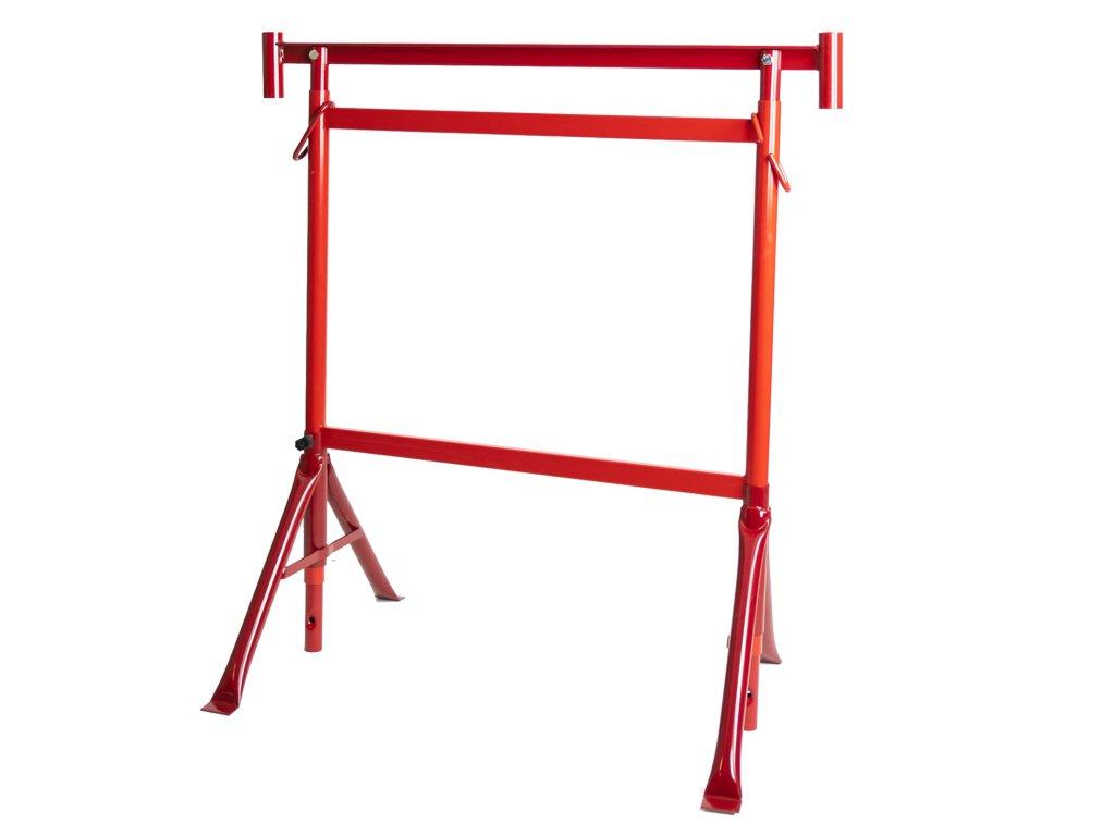 Állítható állványbak, 2,2 m magas, 250 kg teherbírás - PIROS
