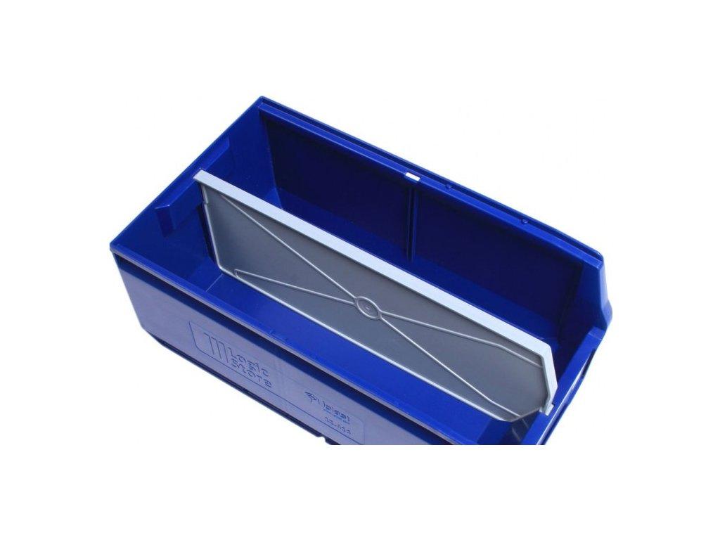Hosszanti térelválasztó műanyag tároló dobozhoz 50 x 22,5 x 15 cm