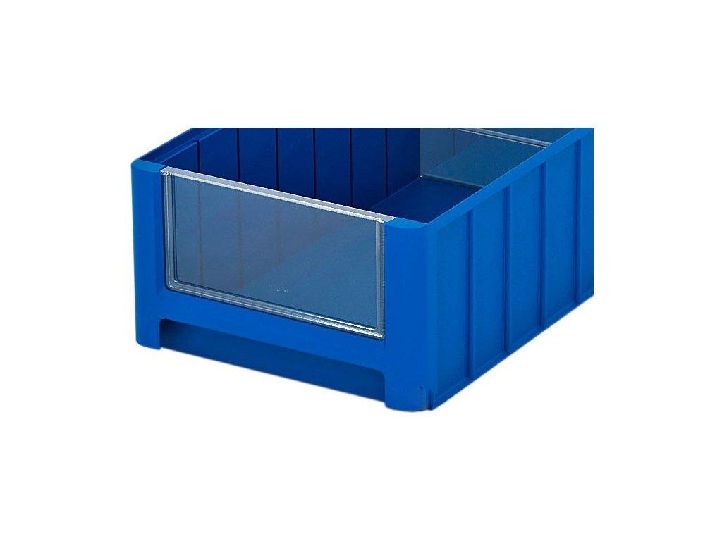 Elülső panel műanyag tároló dobozhoz 18,2 x 5 cm