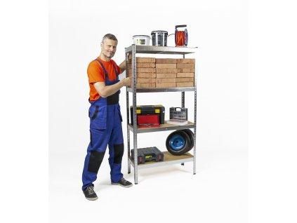 AKCIÓS CSOMAG, 20 DARAB SALGÓ POLC 1800×900×300 mm horganyzott 4-polcos, teherbírás 700 kg