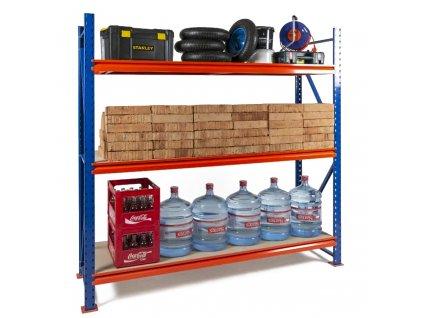 Végtelen ipari Salgó polc 2000x1800x800 3-polc, teherbírás 2700 kg -alap egység