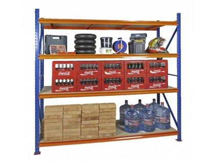 Végtelen ipari Salgó polc 2400x1800x600 4-polc, teherbírás 3600 kg -alap egység