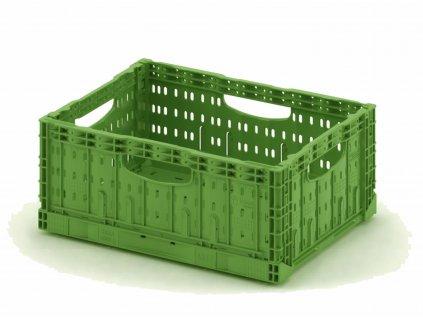 Összecsukható műanyag rekesz 60 x 40 x 22 cm