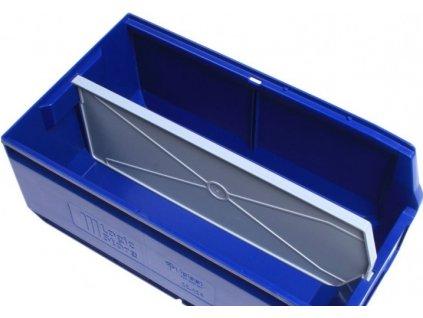 Hosszanti térelválasztó műanyag tároló dobozhoz 40 x 22,5 x 15 cm