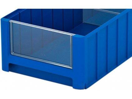 Elülső panel műanyag tároló dobozhoz 18,2 x 9 cm