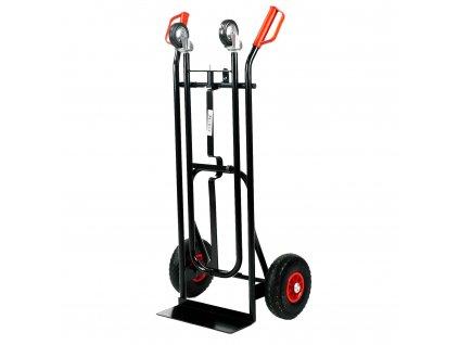 2 az 1-ben molnárkocsi 150 kg-os teherbírással - FEKETE
