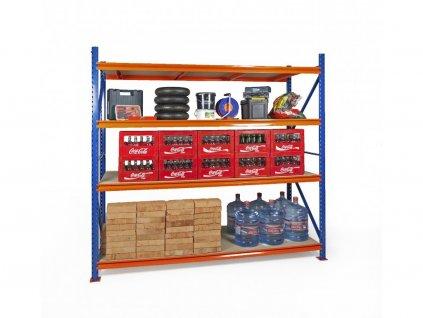 3636 2 nekonecny prumyslovy profesionalni regal 2500x2225x800 4 policovy s nosnosti 3600kg zakladni modul