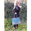 Textilní taška s mandalou - velká kabelka, plážová taška, indická taška, DOPRAVA ZDARMA