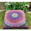 Mandala povlak na sedací meditační indický polštář, čtvercový modrý, bavlna, doprava zdarma