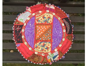 Indický patchwork relaxační dekorační polštářek - ruční práce, podsedák 11, DOPRAVA ZDARMA