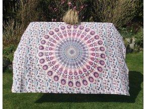 Mandala textilní dekorace na zeď - přehoz přes postel, podložka na cvičení jógy, bavlna, doprava zdarma