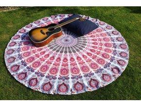 Mandala - jóga podložka, přehoz na postel, deka na pláž, pikniková podložka, bavlna, doprava zdarma