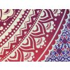 Bavlněná indická mandala, dekorace na zeď - XL přehoz na postel, jóga podložka, růžová ombre deka, tapisérie, doprava zdarma, II. jakost