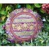Indický patchwork relaxační dekorační povlak na polštářek MAHARI - ruční práce, podsedák fialový, DOPRAVA ZDARMA