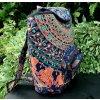 Textilní batoh Mahari s mandalou - indický baťůžek, modrý se slony, DOPRAVA ZDARMA