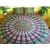 Textilní přehoz na postel s dekoračními potahy poštářky, dvojlůžko, jóga podložka, tapisérie, bavlna, doprava zdarma