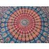 Mandala textilní dekorace na zeď - MAHARI přehoz přes postel, jóga podložka, tapisérie, bavlna, doprava zdarma