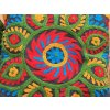 Dekorační povlak na polštář - tradiční indická výšivka, indický meditační polštář, zeleno-modrý, doprava zdarma