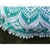 Mandala povlak na sedací meditační indický polštář s pompomy, modrý, bavlna, doprava zdarma