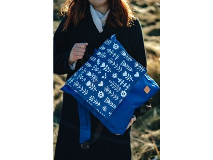 Malý designový batoh - MODROTISK