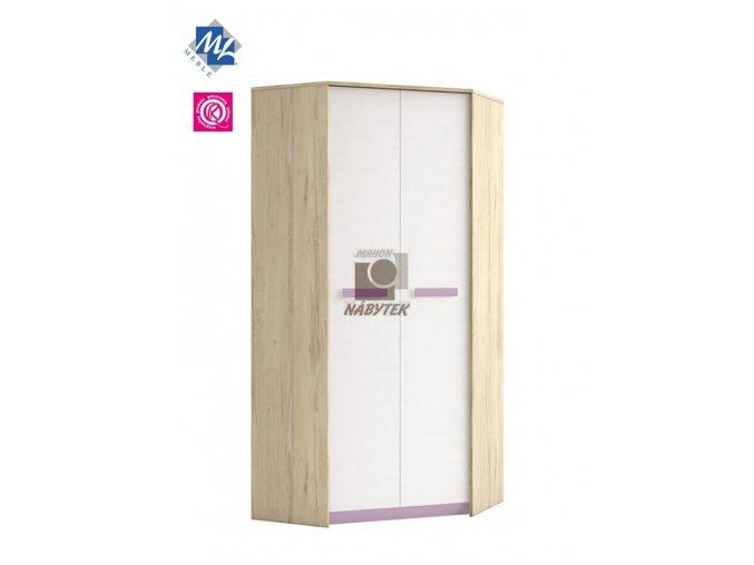 Rohová šatní skříň BEST 01