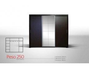 Šatní skříň PESO 250