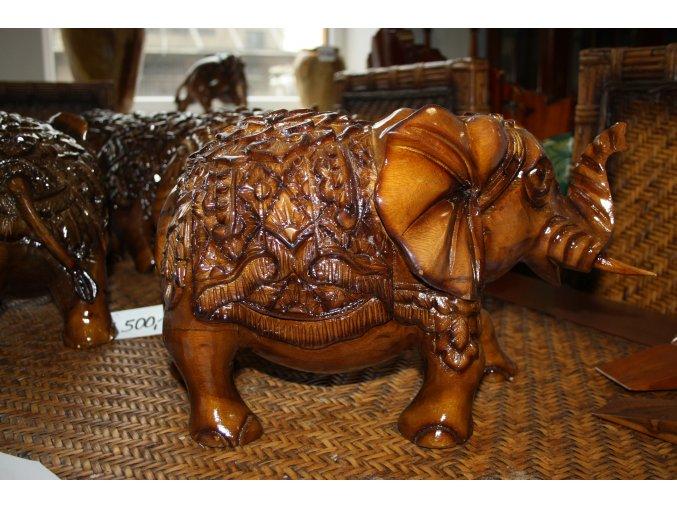 Dřevěná socha slon - THAILAND