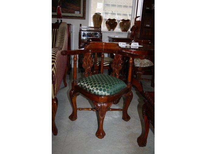 Židle , rohová - green