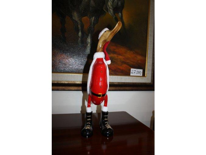 Dřevěná soška, dekorace vánoční kačer