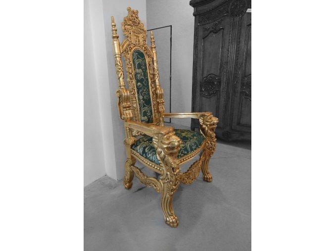 Královské křeslo - gold