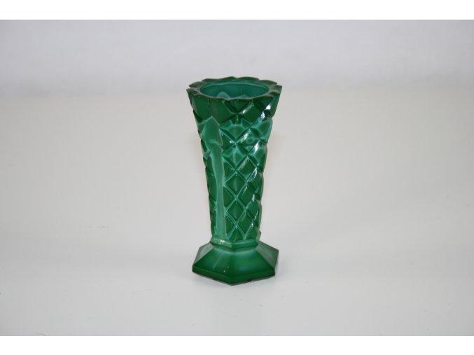 Váza, vázička malachitové sklo (JADE) - malá