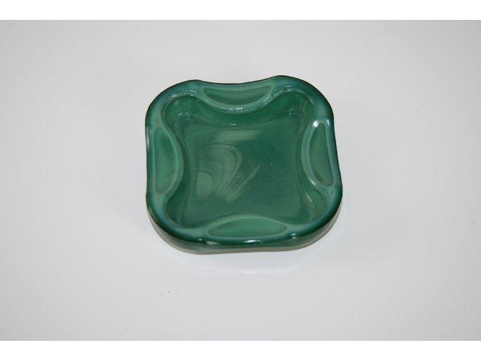 Popelník malachitové sklo (JADE)