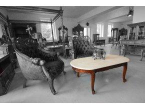 Konferenční stolek s mramorovou deskou