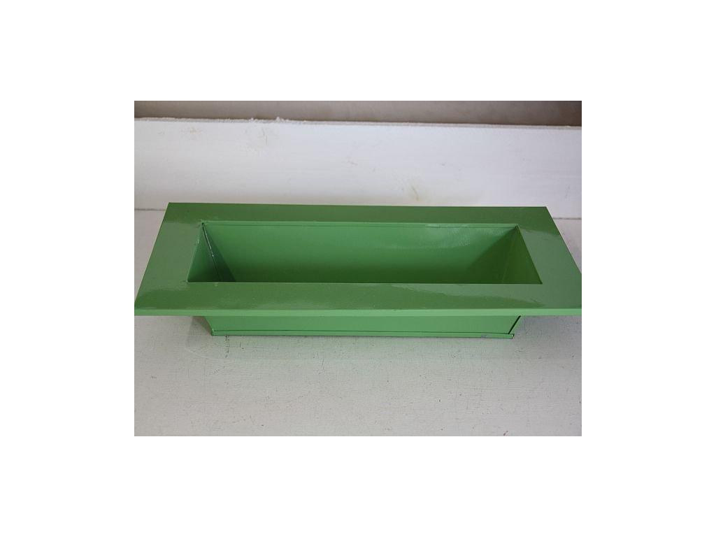 Truhlík plechový zelený