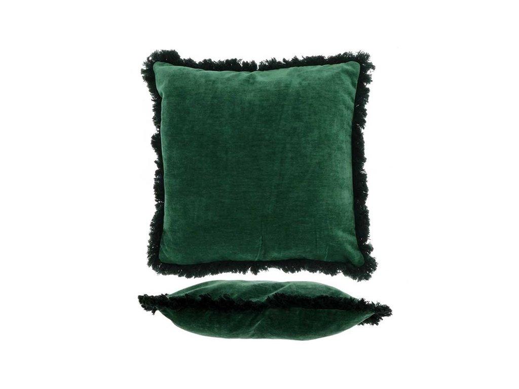 Polštář Mimmie dark green 45x45cm