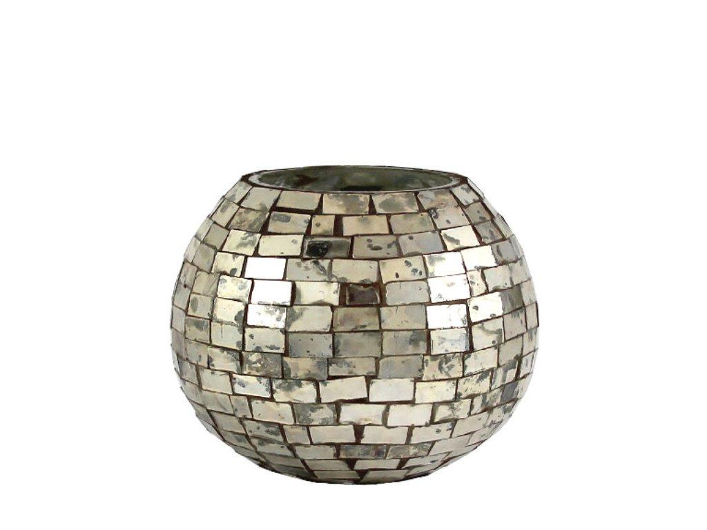 svícen mozaika stříbrnyý