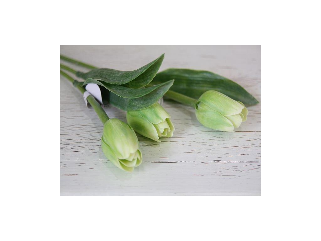 Tulipán umělý - zelený