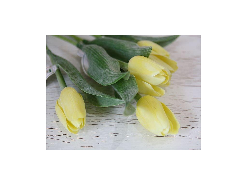 Tulipán umělý - světle žlutý