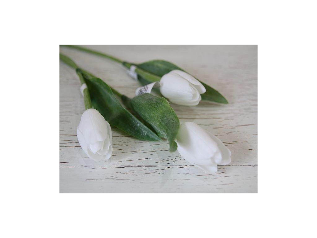 Tulipán umělý - čistě bílý
