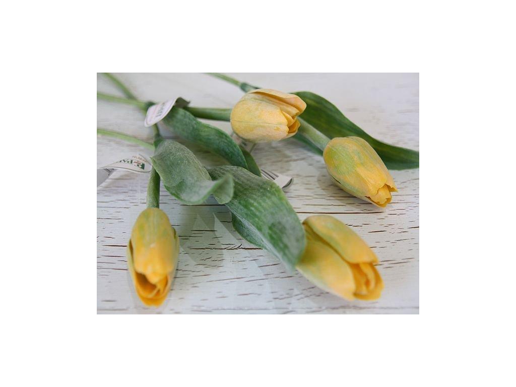 Tulipán umělý - tmavě žlutý