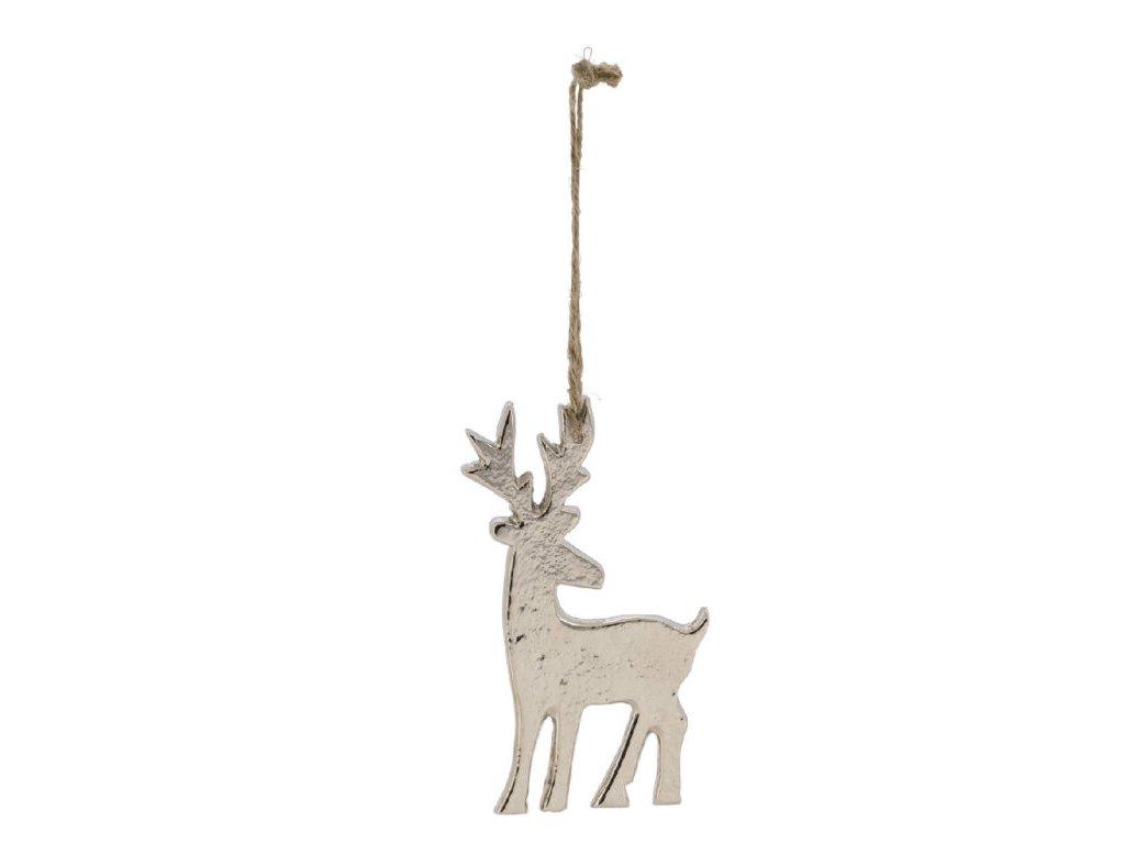 jelen stříbrný závěsný