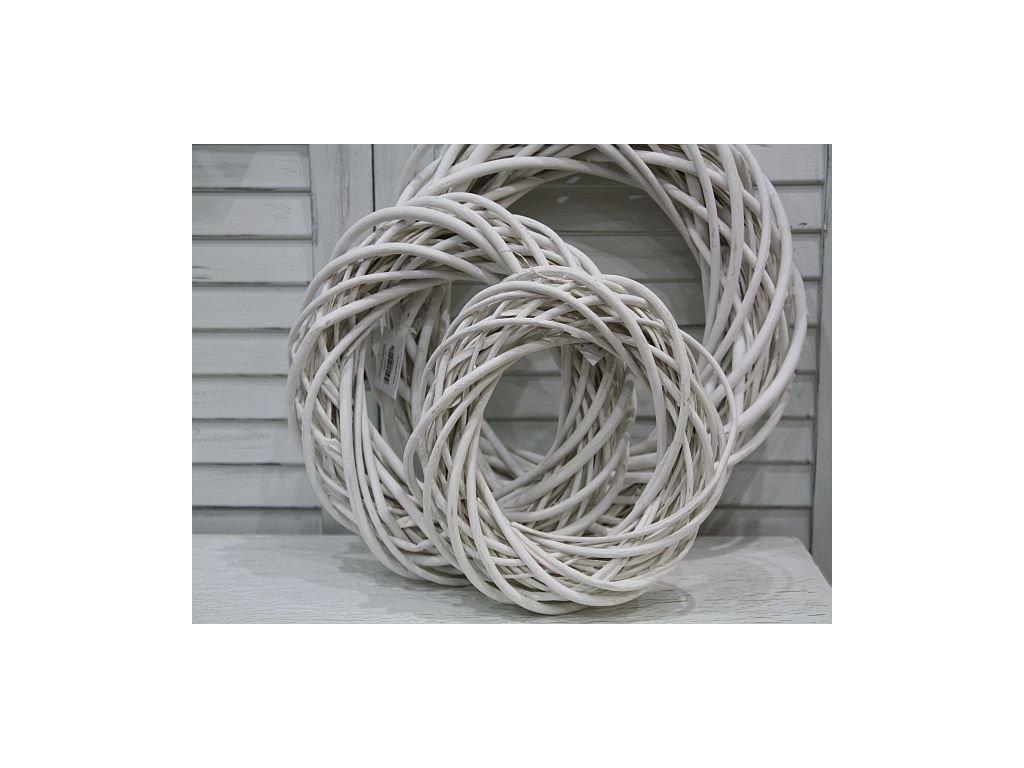 Věneček bílé proutí -40cm