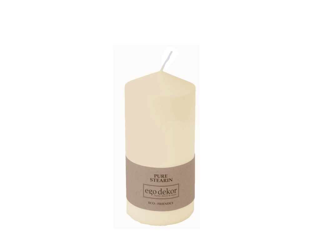 svíčka velká bílá hladká