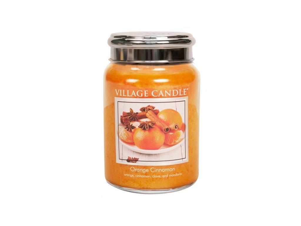 village candle vonna svicka ve skle pomeranc a skorice orange cinnamon 26oz
