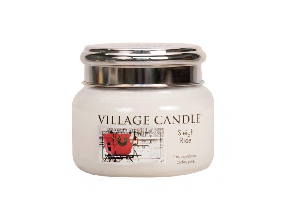 village candle vonna svicka ve skle zimni vyjizdka sleigh ride 11oz