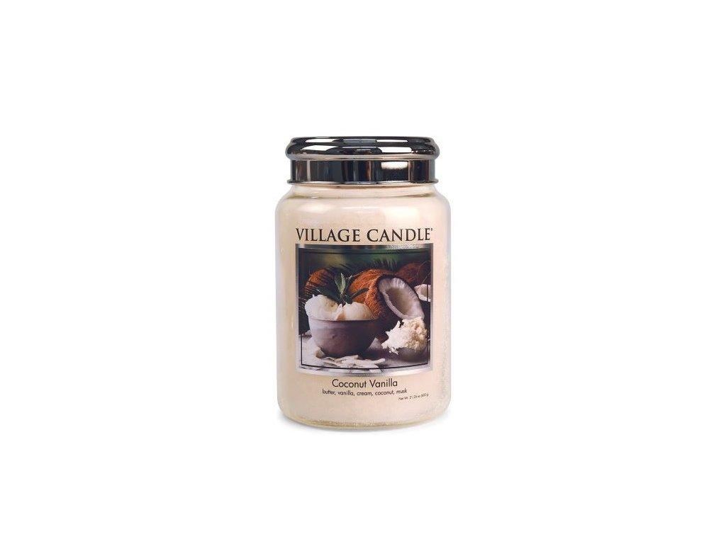 village candle vonna svicka ve skle kokos a vanilka coconut vanilla 26oz