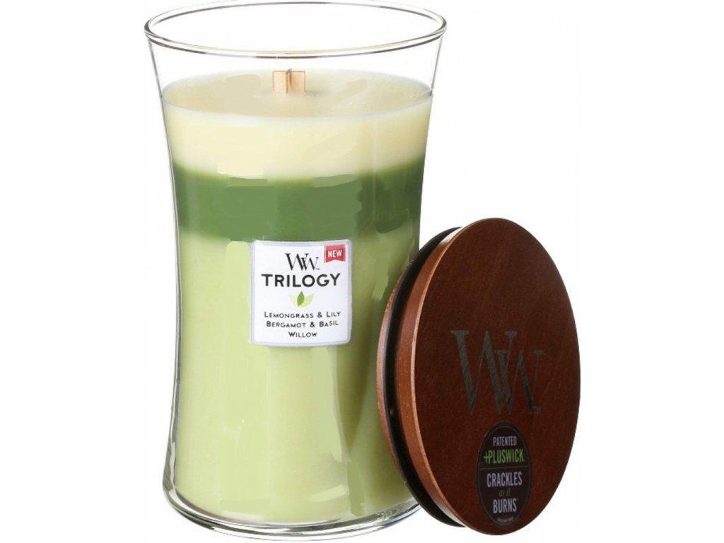 svíčka woodwick velká trilogy