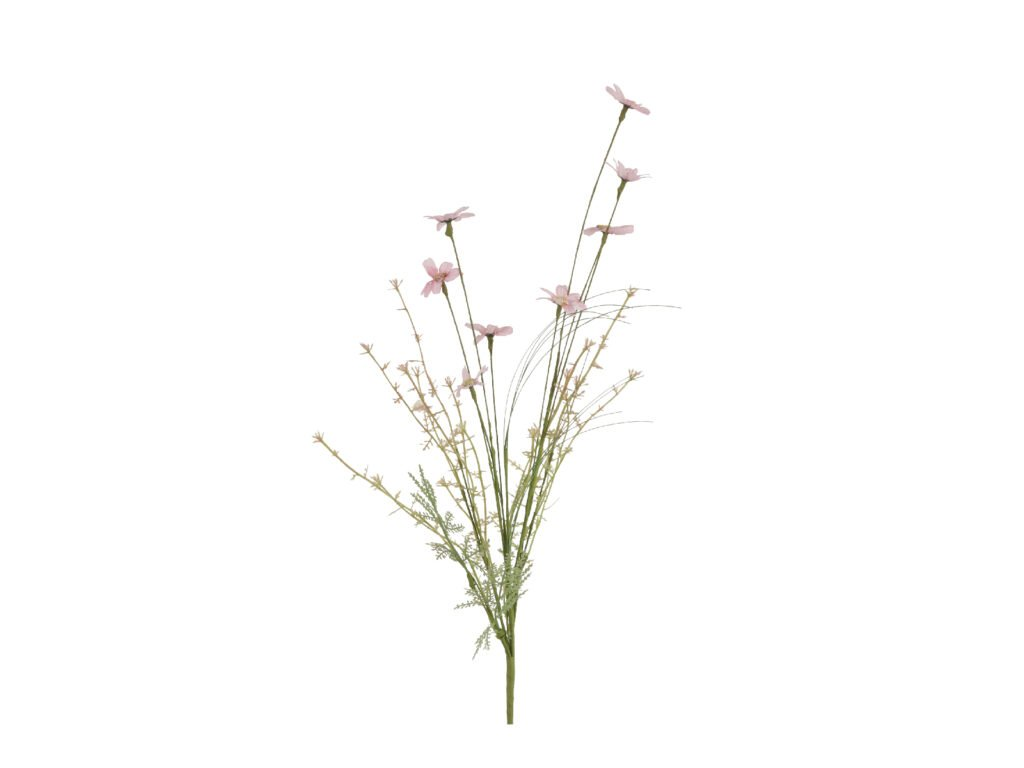 květina umělá sušený vzhled od růžova